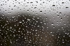 Rain drops on window glass Royalty Free Stock Photos