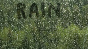 Rain drops on a window Royalty Free Stock Images