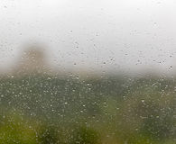 Rain drops on window glass. Abstract background Royalty Free Stock Images