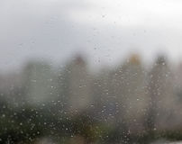 Rain drops on window glass. Abstract background Royalty Free Stock Image