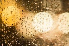 Rain drops on a window glass Royalty Free Stock Photo