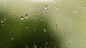Rain drops on window glass stock video
