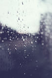 Rain drops on a window glass. Surface Royalty Free Stock Images