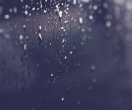 Rain drops on a window glass. Surface Royalty Free Stock Photography