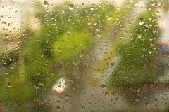 Rain drops on a window Stock Photography