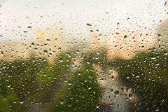 Rain drops on a window Stock Photo