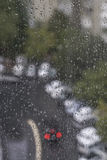 Rain drops on window pane. As a background Stock Photos