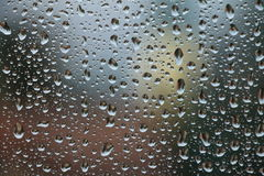 Rain drops on window , rainy day Stock Photos