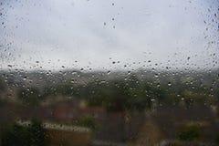 Rain Drops on a Window Royalty Free Stock Image