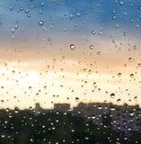 Rain drops on the window Stock Photography