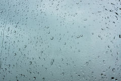 Rain. Drops on a windowpane Stock Images