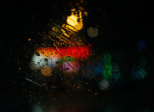 Rain drops on a windshield Royalty Free Stock Image