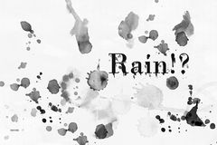 Rain effect Royalty Free Stock Image
