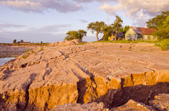 Rain erosion landscape Stock Photos