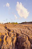 Rain erosion landscape. And sky clouds Stock Image