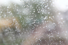Rain fall on glass Stock Photos