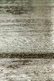 Rain fall on the road. Stock Photo