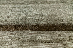 Rain fall on the road. Royalty Free Stock Images