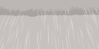 Rain Falling From Cloud Background Stock Images