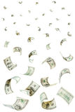 Rain from falling dollars Stock Images