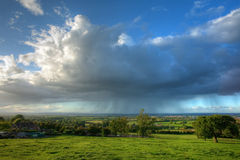 Rain falling over Gloucestershire Stock Photography