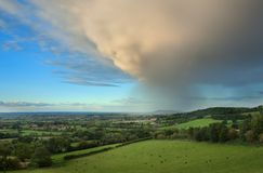 Rain falling over Gloucestershire Royalty Free Stock Photography