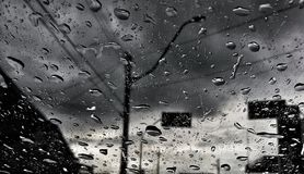 Raindrops on the Windshield. stock photography