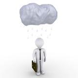 Rain falls on businessman Stock Photography