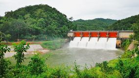 Small dams are very important to the irrigation system to distribute water to the farmers. royalty free stock images