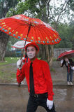 Rain festival. Artists did perform in the festival of rain in the city of Solo, Central Java, Indonesia Royalty Free Stock Image
