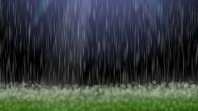 Rain field blurs bokeh background Royalty Free Stock Photo