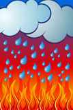 Rain and Fire. Vector illustration of Rain and Fire Stock Photography