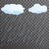 Rain flat concept design vector illustration Stock Image