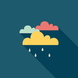 Rain flat icon with long shadow. Vector illustration file vector illustration