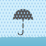 Rain Flood Umbrellav Royalty Free Stock Photography