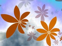 Rain of Flowers. Let's rain flowers. Generated with fractals Stock Photos