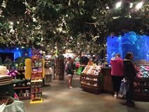 Rain Forest Cafe` Gift Shop Stock Images