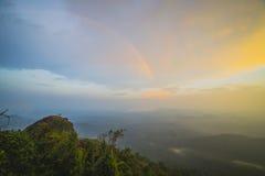 Rain forest with rainbow Stock Photos