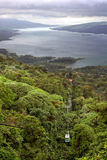 Rain Forest Tram Over Lake Arenal, Costa Rica Stock Images