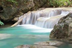 Rain forest waterfall Stock Photo