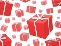 Rain of Gifts. Royalty Free Stock Photos