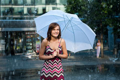 Rain Girl Stock Photography