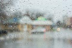 Rain on the glass Stock Photography