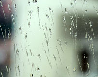 Rain on glass Stock Photography