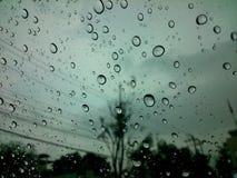 Rain on glass Royalty Free Stock Photos