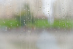 Rain on the glass Royalty Free Stock Photos