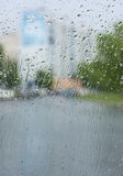 Rain on the glass Stock Photography