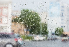 Rain on the glass Stock Image