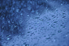 Rain on glass Royalty Free Stock Photo