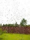 Rain on glass Stock Photo